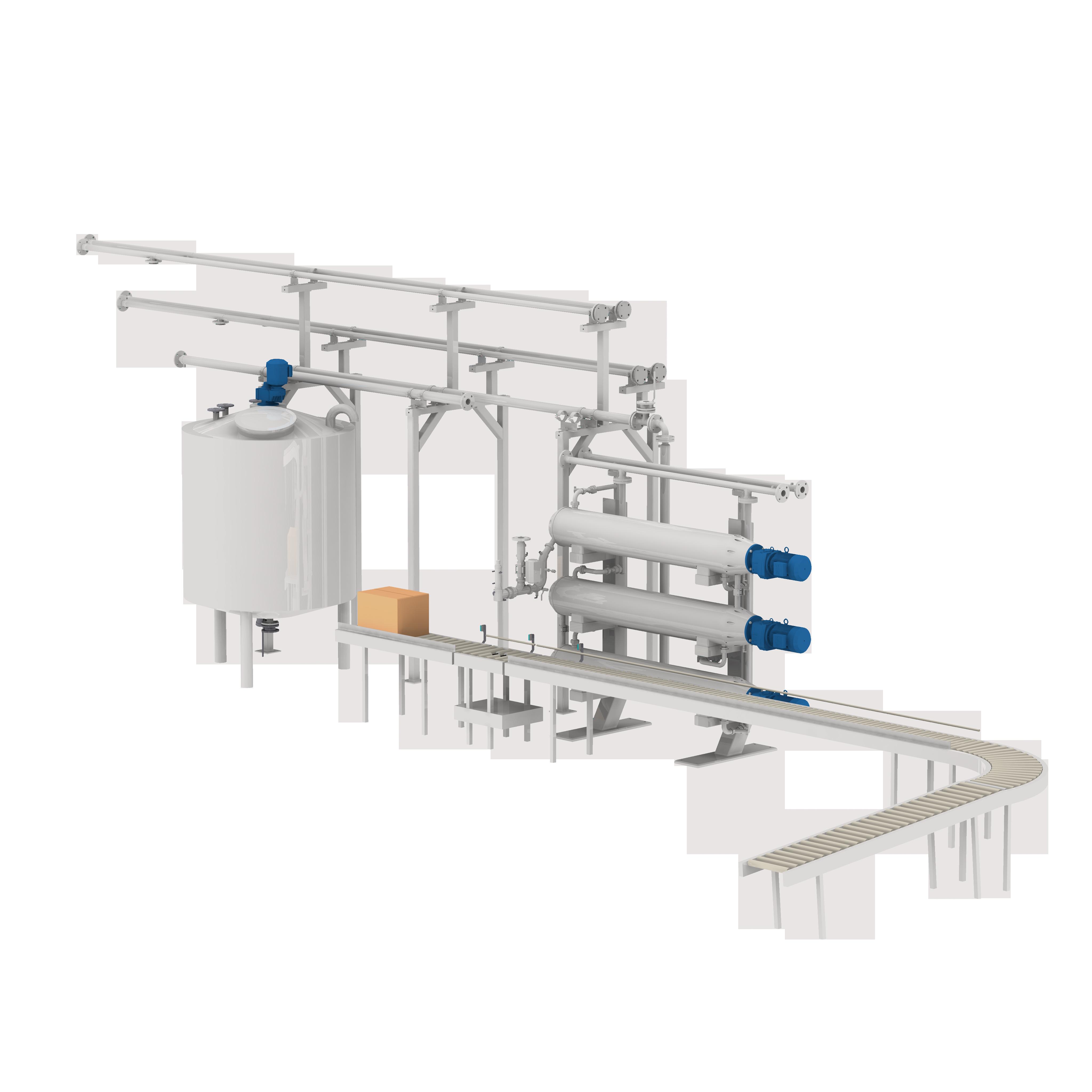 Linka na zpracování kakaového másla s filtračním systémem