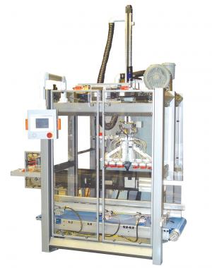 Robotická horizontální balička pro balení do sekundárních obalů