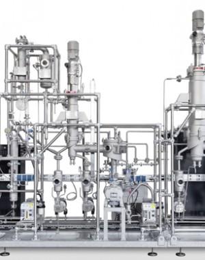Pilotní destilační jednotka s molekulární destilací