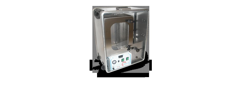 Smršťovací systém laboratorního rozsahu s automatickou párou
