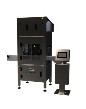 Tiskárna kódů na plechovky s integrovaným sušicím systémem