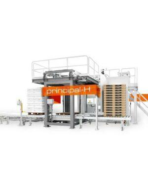 Automatický paletovací stroj na pytle a krabice